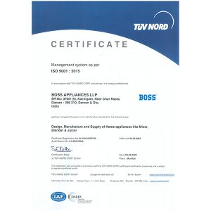 BALLP_ISO Certificate